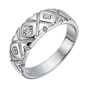 Silver Diamond Illusion Set Ring - Product number 1336304