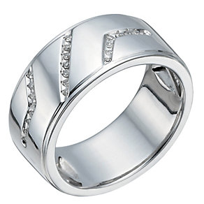 Silver 10 Point Diamond Ring - Product number 1336983