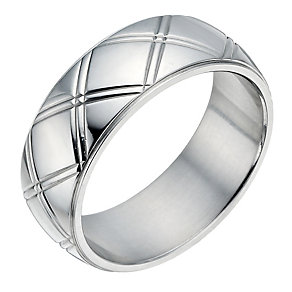 Stainless Steel Cross Groove Ring - Product number 1337114