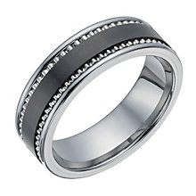 Tungsten & Black Ceramic Ring - Product number 1338366