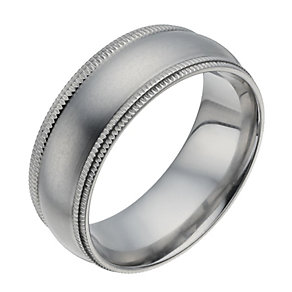 Titanium Matt Groove Edge Ring - Product number 1338625