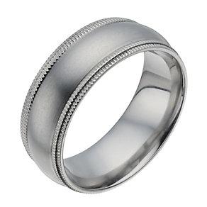 Titanium Matt Groove Edge Ring - Product number 1338625