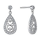 Silver cubic zirconia small chandelier earrings - Product number 1340018