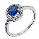 Silver blue cubic zirconia halo ring - Product number 1340328