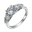 Silver cubic zirconia five stone ring - Product number 1340433