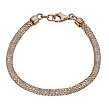 Rose gold-plated sparkle mesh bracelet - Product number 1340778