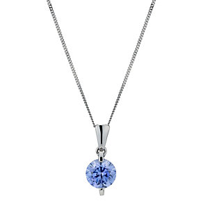 9ct white gold with Fancy Blue Swarovski Zirconia pendant - Product number 1341073