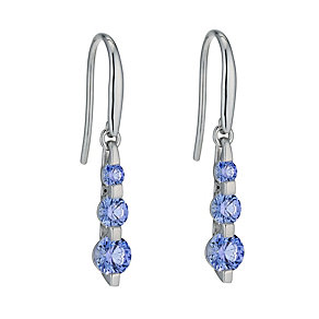 9ct white gold with Fancy Blue Swarovski Zirconia earrings - Product number 1341081