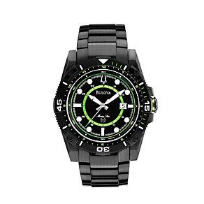 Bulova Marine Star Men's Black Steel Bracelet Watch - Product number 1344595