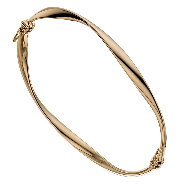 9ct rose gold twist bangle - Product number 1344609