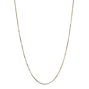 9ct yellow gold extender box chain necklace - Product number 1344676