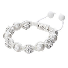 Shimla Crystal & Pearl White Rope Bracelet - Product number 1346040