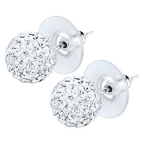 Shimla Clear Crystal Ball Stud Earrings - Product number 1346075