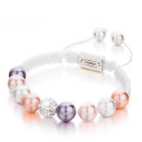 Shimla Multi-Pearl & Crystal White Rope Bracelet - Product number 1346261