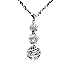 Shimla White Crystal Triple Fireball Pendant - Product number 1346296