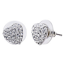 Shimla Clear Crystal Heart Stud Earrings - Product number 1346318