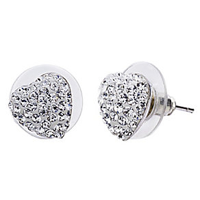 Shimla Clear Crystal Heart Stud Earrings - Product number 1346318