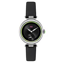 MW by Matthew Williamson Ladies' Black Leather Strap Watch - Product number 1347209