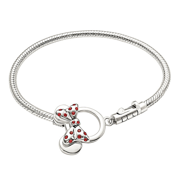Sterling Silver Minnie Mouse Toggle Bracelet - Product number 1347535