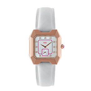 MW by Matthew Williamson Ladies' White Leather Strap Watch - Product number 1347756
