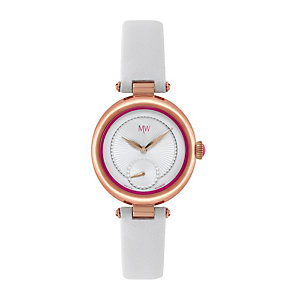 MW by Matthew Williamson Ladies' White Leather Strap Watch - Product number 1347772