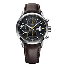Raymond Weil men's brown leather chronograph strap watch - Product number 1348434