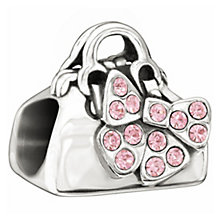 Chamilia with Swarovski crystal pink shopping bag charm - Product number 1348981