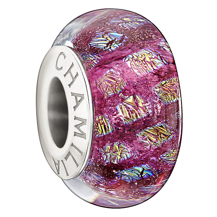 Chamilia Magenta Opulence Murano glass sterling silver charm - Product number 1349228