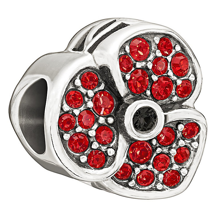Chamilia Red Poppy with Swarovski crystal charm - Product number 1349325