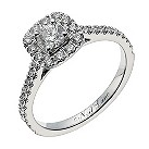 Neil Lane 14ct white gold 3/4 carat diamond halo ring - Product number 1349430