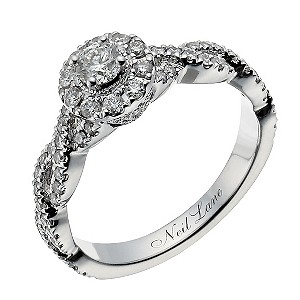Neil Lane 14ct white gold 2/3 carat diamond halo twist ring - Product number 1349724
