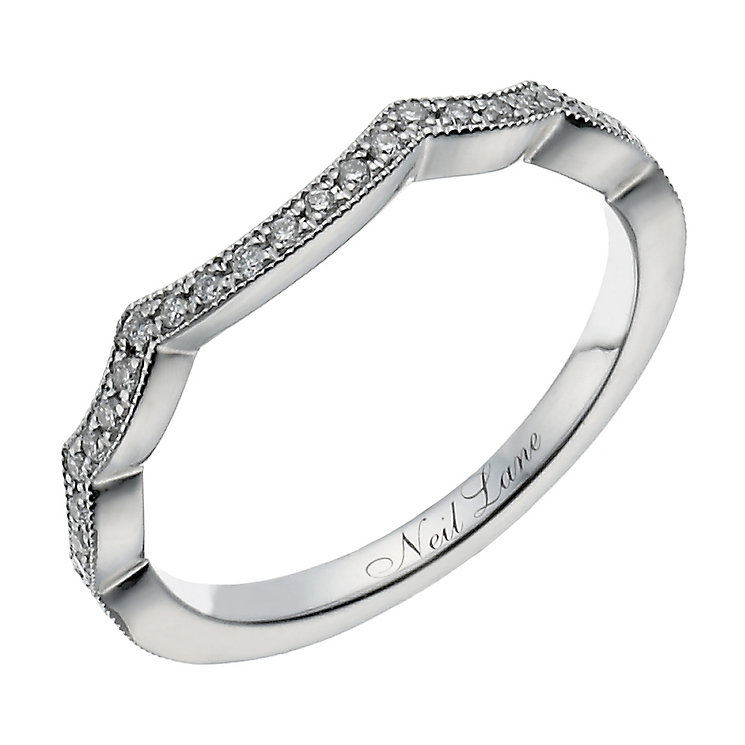 Neil Lane 14ct white gold 0.15ct diamond shaped band - Product number 1350110