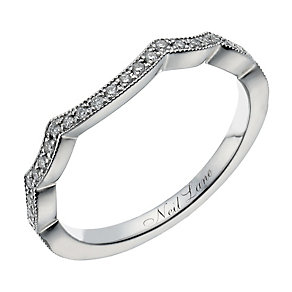 Neil Lane 14ct white gold 15 point diamond shaped ring - Product number 1350110