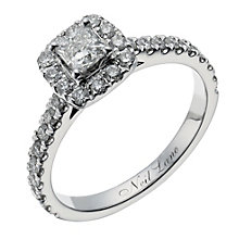 Neil Lane 14ct white gold 0.80ct diamond halo ring - Product number 1350528