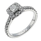 Neil Lane 14ct white gold 81 point diamond halo ring - Product number 1350528