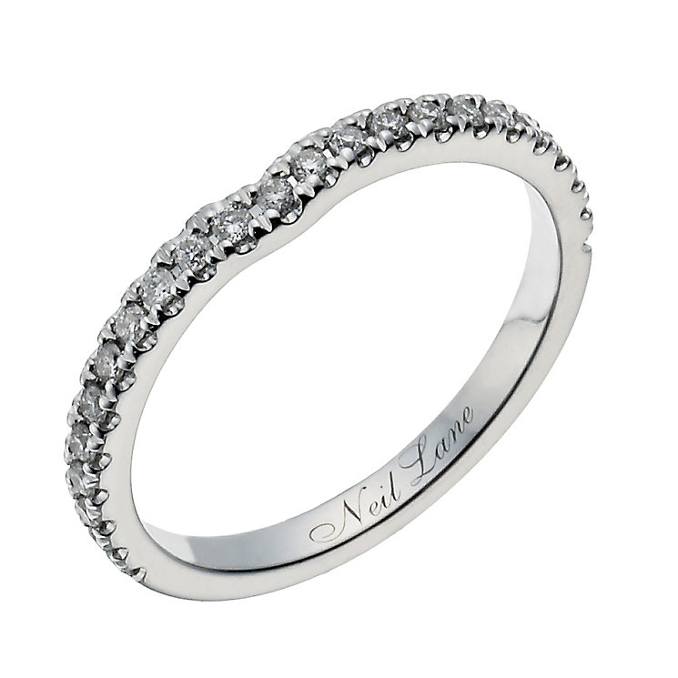 Neil Lane 14ct white gold 0.20ct diamond shaped band - Product number 1350641