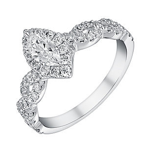 Neil Lane 14ct white gold 87 point diamond marquise ring - Product number 1350773