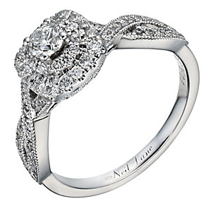Neil Lane 14ct white gold 0.75ct diamond double halo ring - Product number 1351052