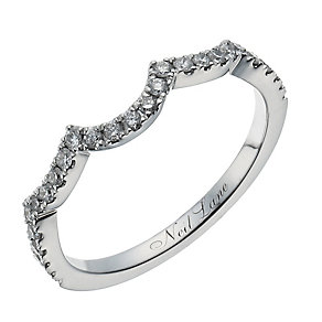 Neil Lane 14ct white gold 0.25ct diamond shaped band - Product number 1351443