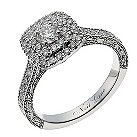 Neil Lane 14ct white gold 87 point diamond halo ring - Product number 1351575