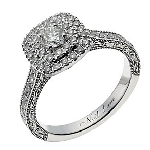 Neil Lane 14ct white gold 0.87ct diamond halo ring - Product number 1351575