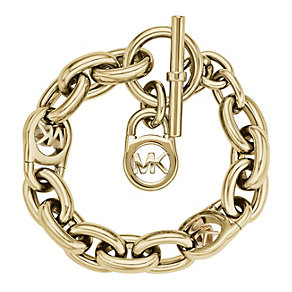 Michael Kors Gold Tone Logo Link Chain Bracelet - Product number 1351974