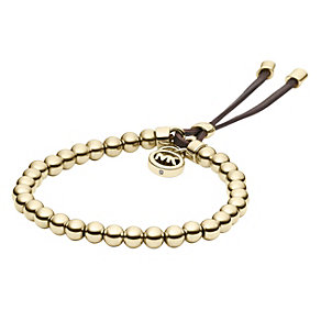 Michael Kors gold-plated stretch bead bracelet - Product number 1351982