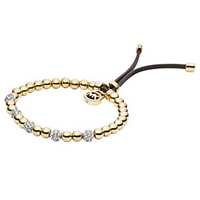 Michael Kors gold-plated stone set stretch bead bracelet - Product number 1352016