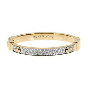 Michael Kors gold-plated stone set stud bangle - Product number 1352024