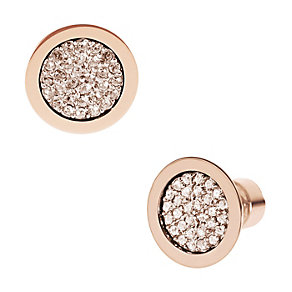 Michael Kors rose gold-plated pave stud earrings - Product number 1352083