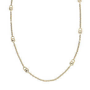 Michael Kors gold-plated long logo link chain necklace - Product number 1352091