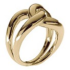 Michael Kors gold-plated interlocking ring size O - Product number 1352105