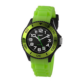 Limit Men's Green Silicone Strap Watch - Product number 1352539