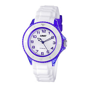 Limit Ladies' Purple & White Silicone Strap Watch - Product number 1352555